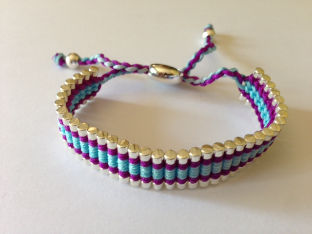 Friendship Bracelet Light Blue and Purple colour